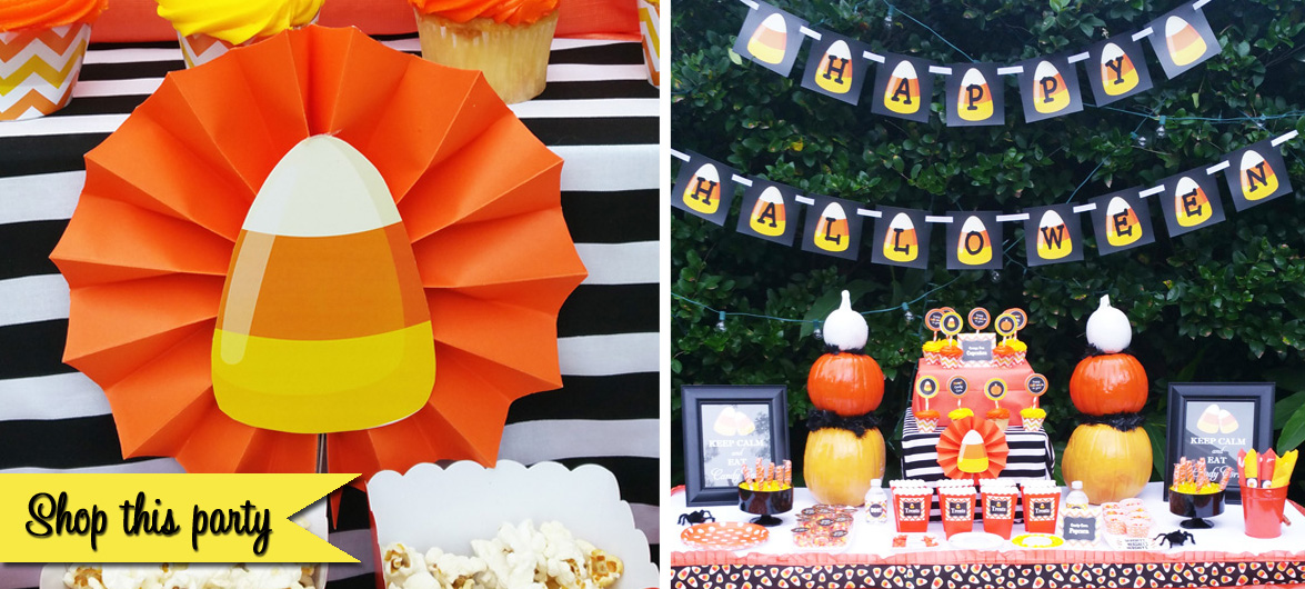 Halloween party, halloween, party ideas, candy corn