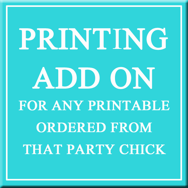 Printing Add Ons for Printable Orders