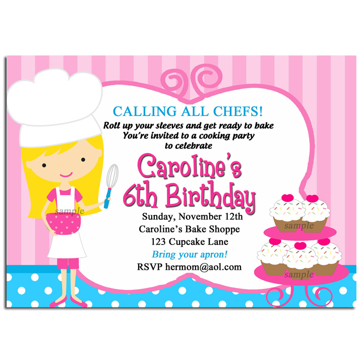 Girl Chef Baking - Pink Little Bake Shoppe
