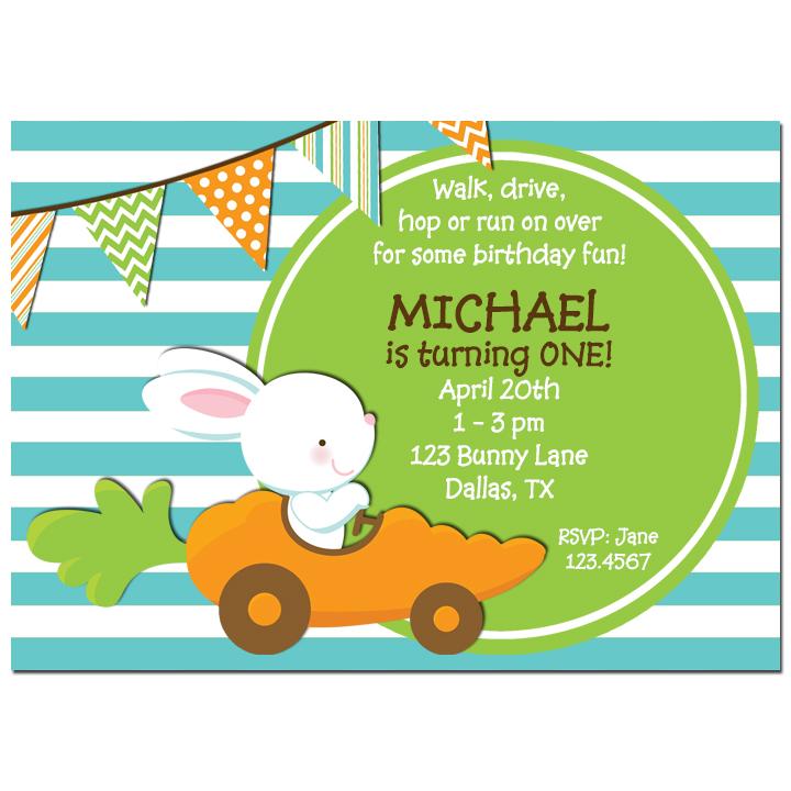 Bunny in Carrot Car