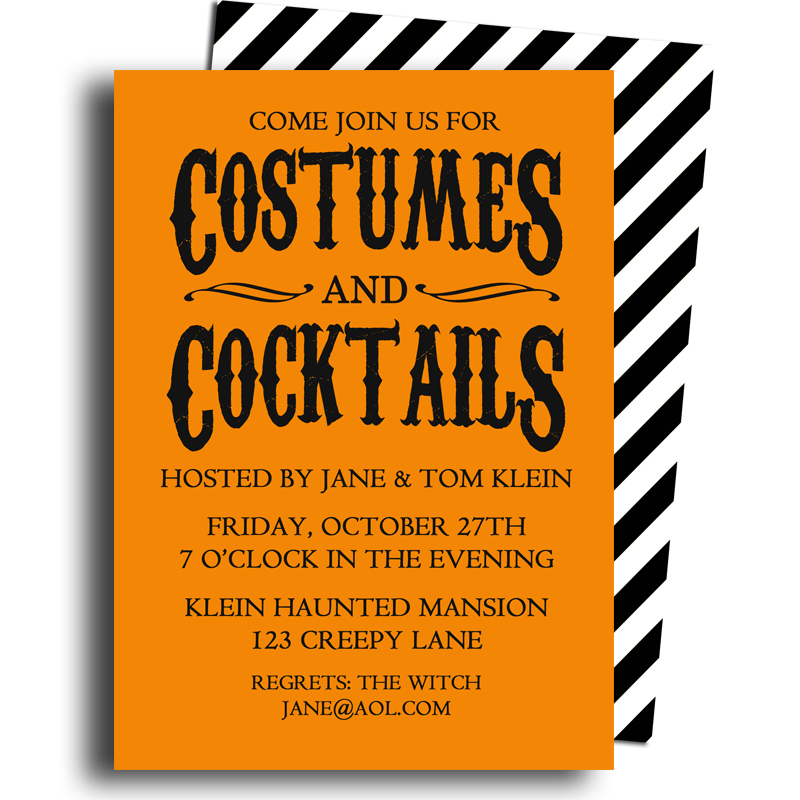 Halloween - Costumes and Cocktails