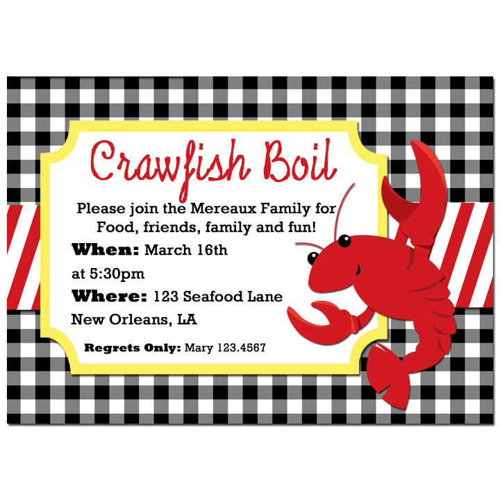 Crawfish Boil Gingham
