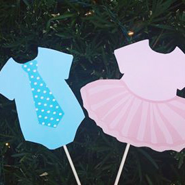 Ties and Tutus Collection - Chalkboard Pink and Blue