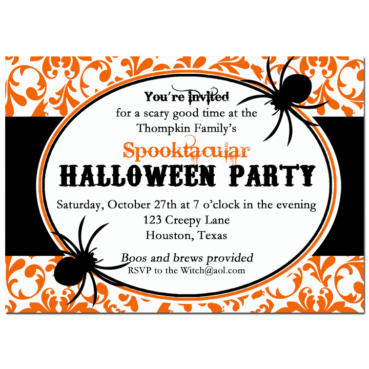 Orange Damask Spider - Damask Spider Spooktacular Collection