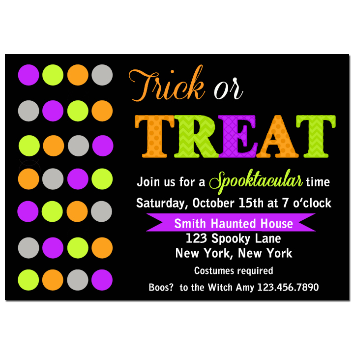 Neon Dots Trick or Treat