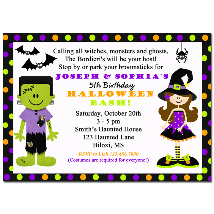 Witch Frankenstein - Halloween Sibling Collection