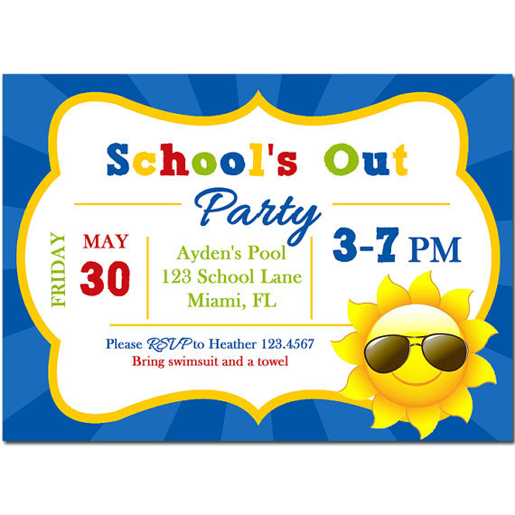 School's Out for Summer Party Invitation - School's Out Collection