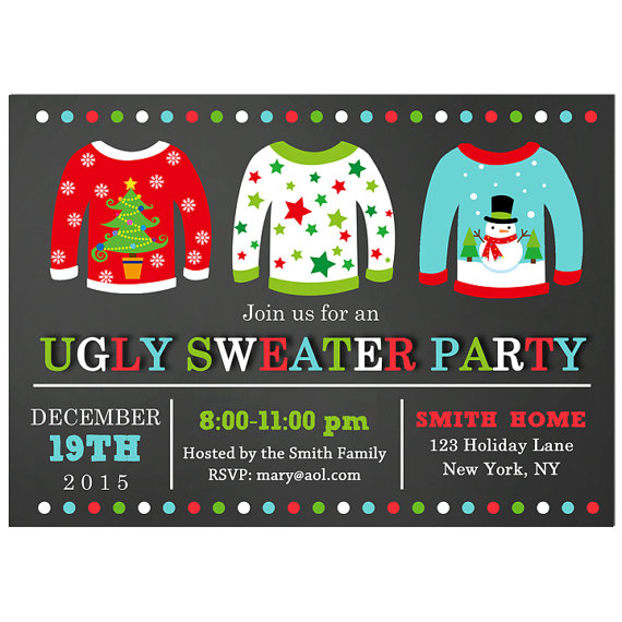 Ugly Sweater - Christmas Chalkboard Collection
