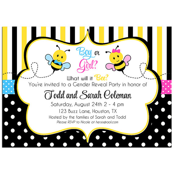 Bee Gender Reveal - Pink and Blue Bee Collection