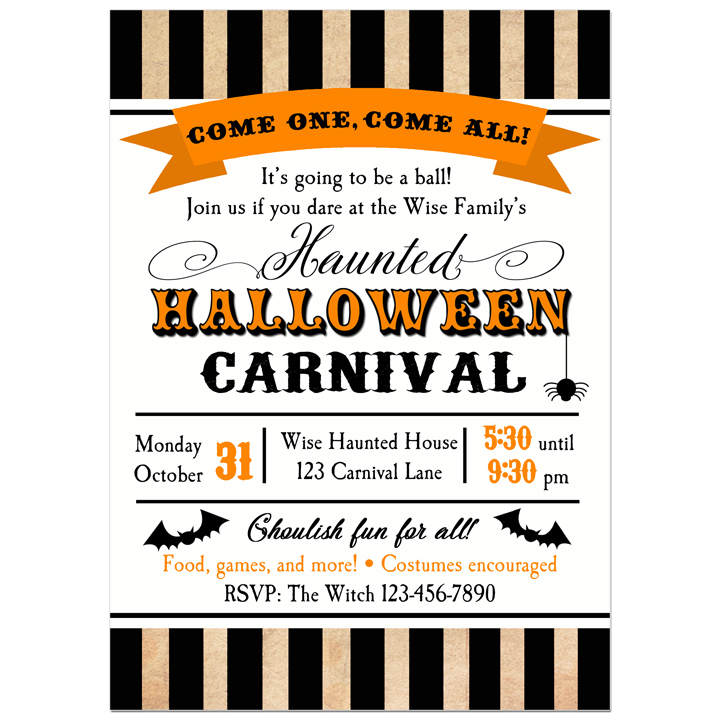 Halloween Carnival - Big Top Stripe