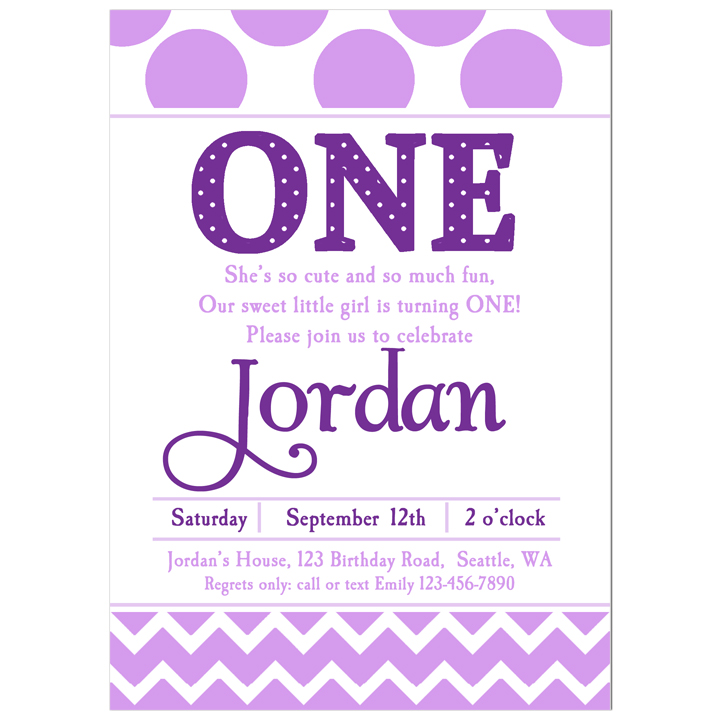 Lavender Chevron Dots - Purple Love