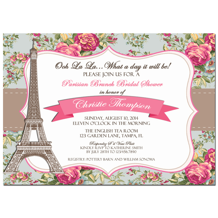 Vintage Floral Parisian - Shabby Chic Paris Collection