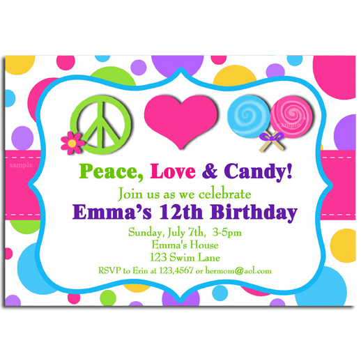 Peace, Love & Candy - Sweet Birthday
