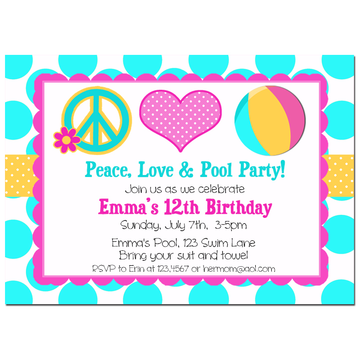 Peace, Love, and Pool Party