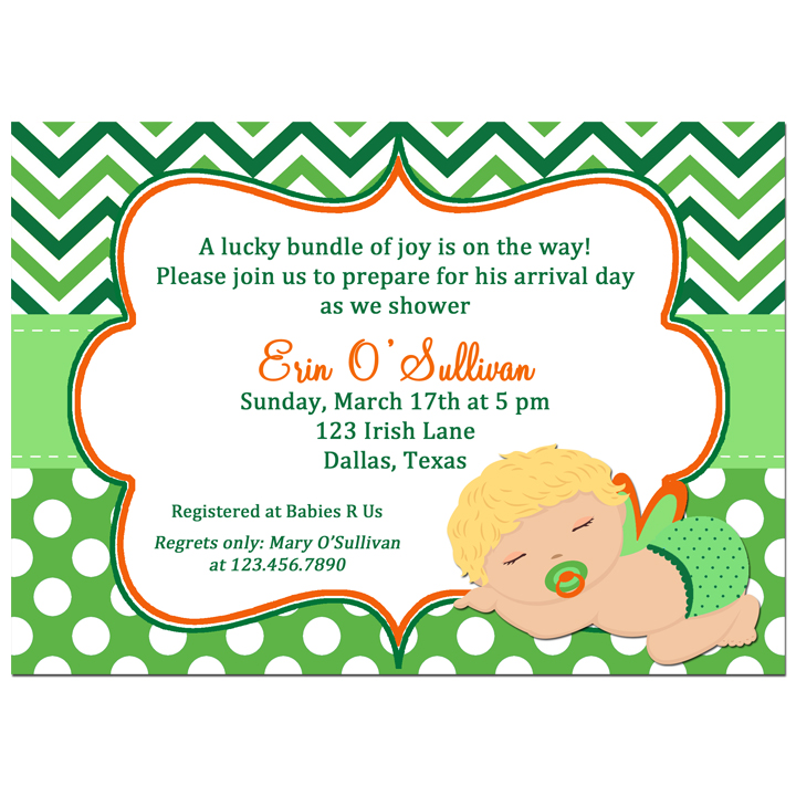 St. Patrick's Day Boy Baby Shower