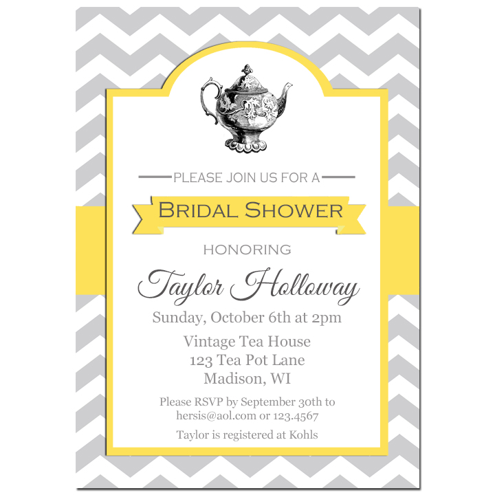 Tea Party - Gray Chevron