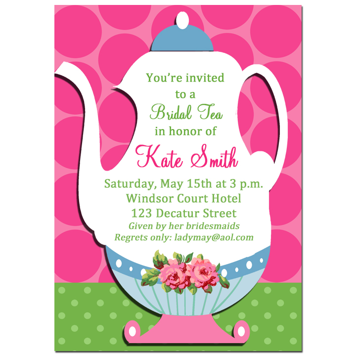 Tea Pot Invitation