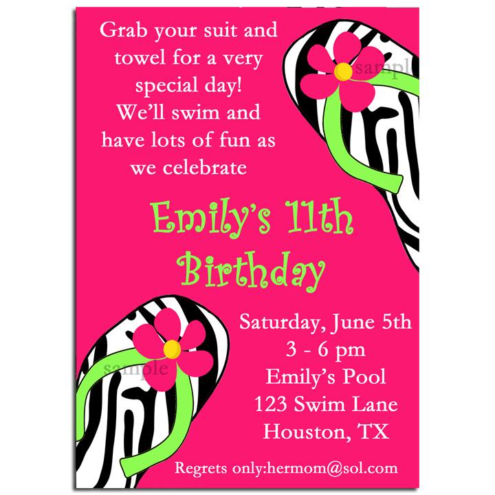Pool Flip Flops - Pink Zebra