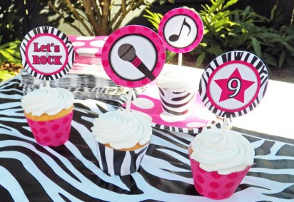 Rock Star Diva Cupcake Toppers