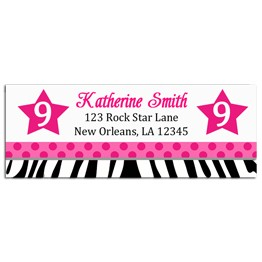 Rock Star Diva Return Address Labels