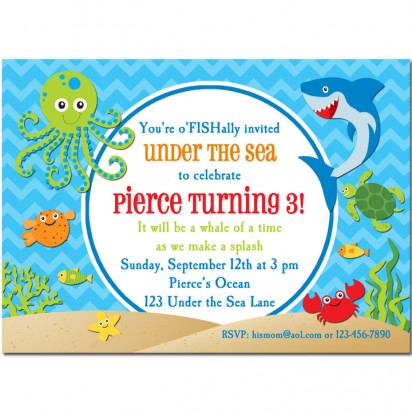 Ocean Friends Invitation