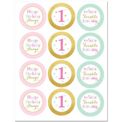 Twinkle Twinkle Little Star Party Cupcake Toppers by That ...