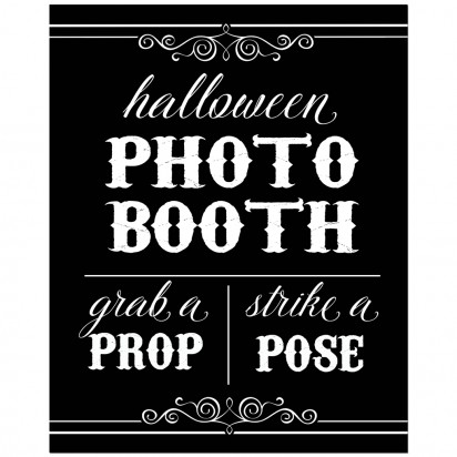 "Halloween Photo Prop 8x10"" Sign"