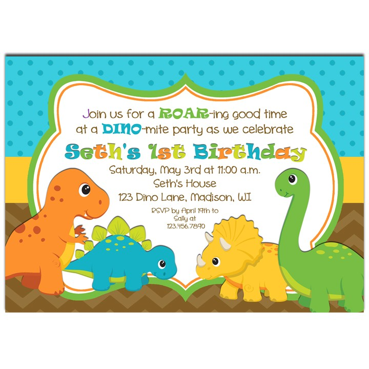 dinosaur invitation Baskanidaico