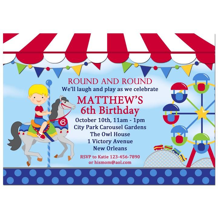 Amusement Park Birthday Party Invitation by That Party Chick – Park Birthday Invitations