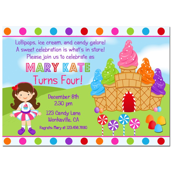 Ice Cream Candy Party Invitation by That Party Chick - Sweet Dream ...