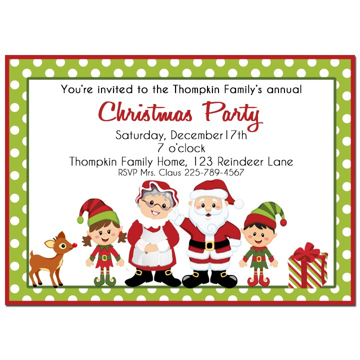 Santa and Mrs. Claus Christmas Party Invitation by That Party Chick ...