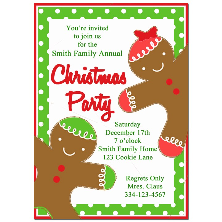 Gingerbread Kids Christmas Party Invitation by That Party Chick ...