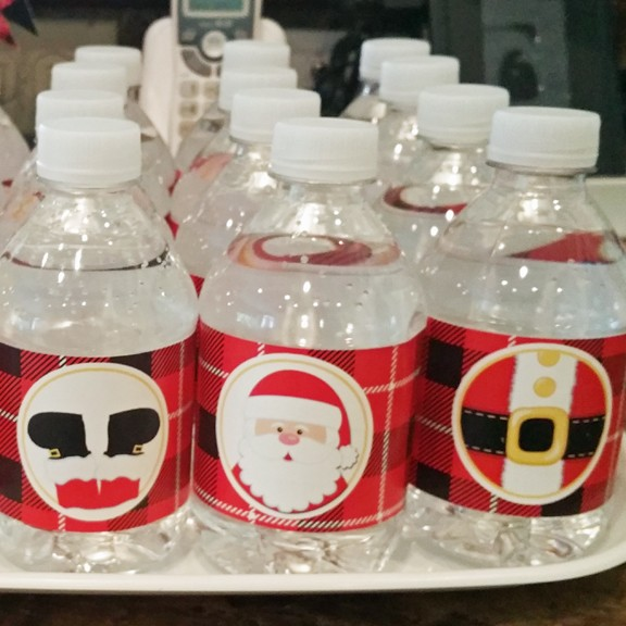 Merry Christmas Water Bottle Labels By That Party Chick