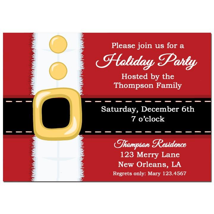 santas belt christmas invitation - Santa Claus Belt