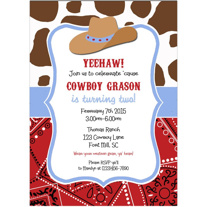 Cowboy Hat Party Invitation by That Party Chick - Cowboy Hat ...