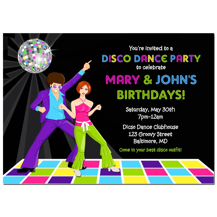Disco Dance Party Invitation by That Party Chick