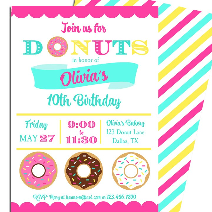 Donut Birthday Party Invitation by That Party Chick - Sprinkle with ...