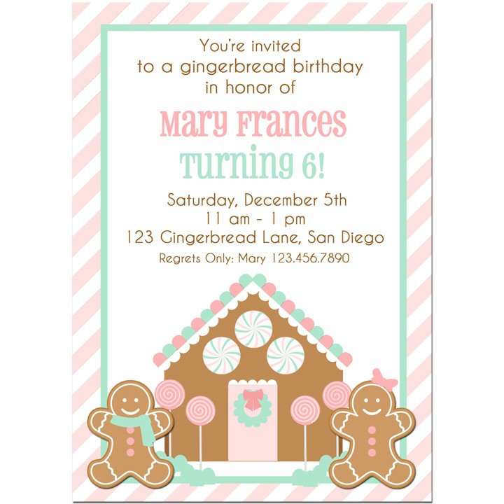 Christmas gingerbread house decorating birthday party invitation christmas gingerbread house decorating party invitation filmwisefo Images