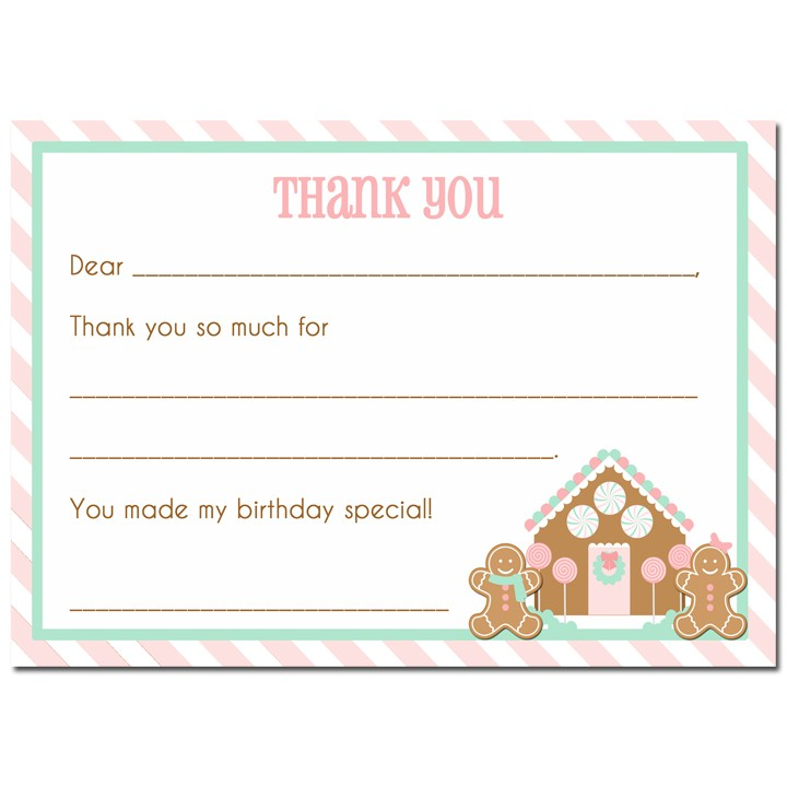 Christmas gingerbread house birthday thank you note by that party christmas gingerbread house thank you note filmwisefo Images