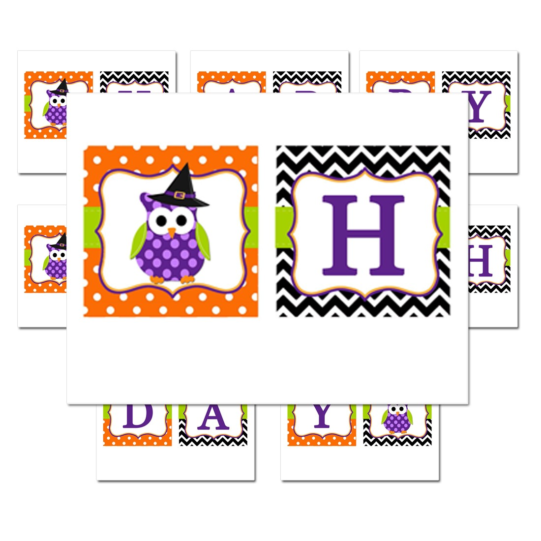"Halloween Owl ""Happy Birthday"" Banner By That Party Chick"