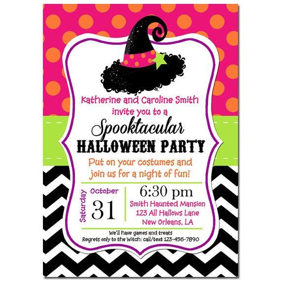 Halloween Party Invitation By That Party Chick Witch Hat