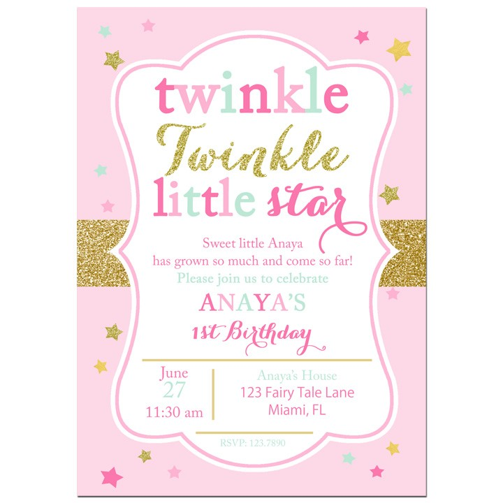 twinkle twinkle little star party invitation by that party chick