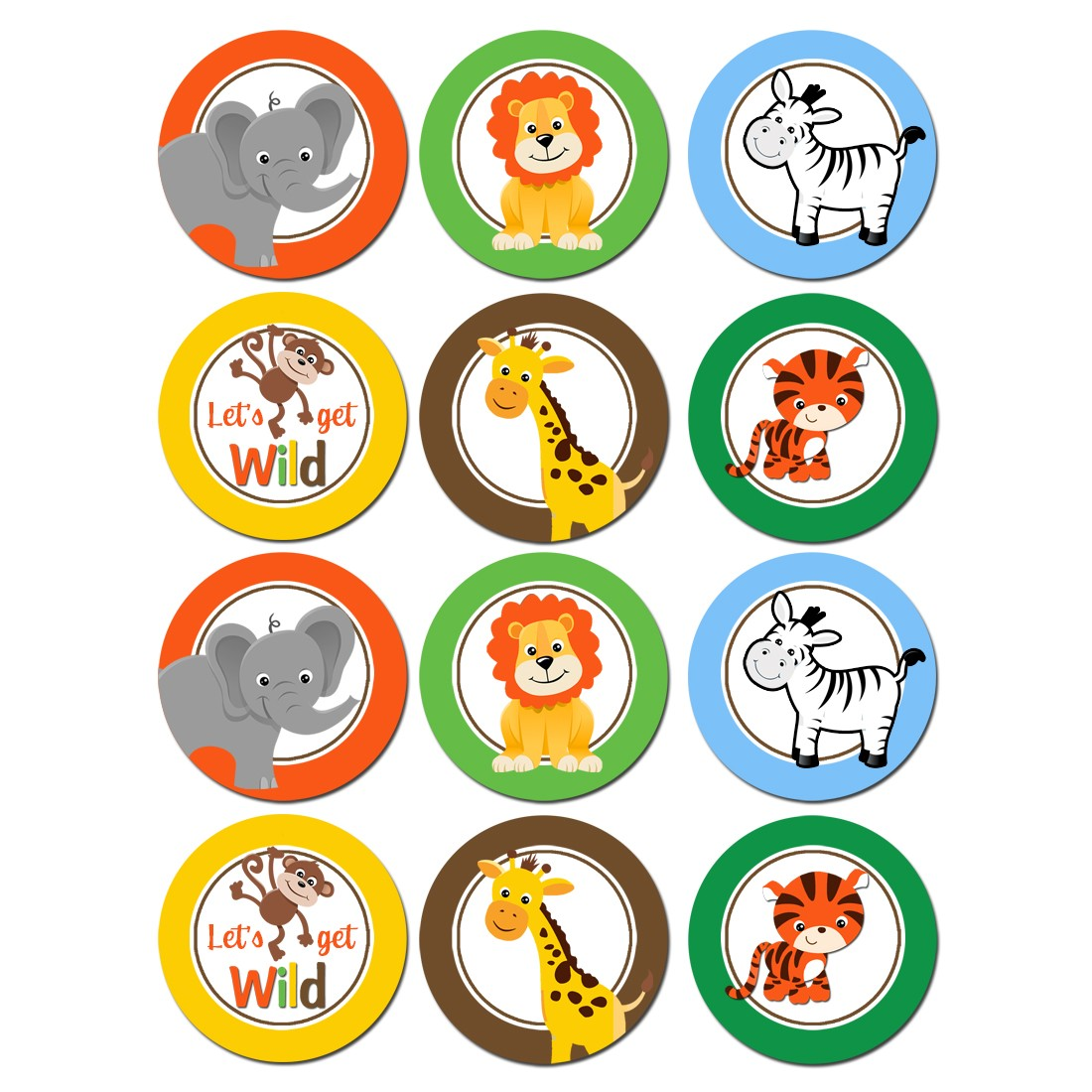Wild Animal Cupcake Toppers By That Party Chick Jungle