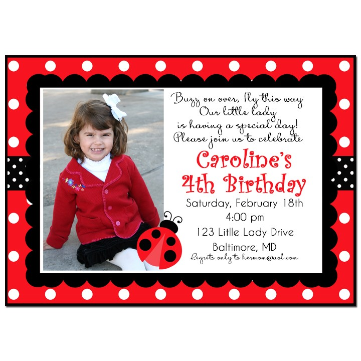 Ladybug Party Invitation by That Party Chick - My Little Lady Collection