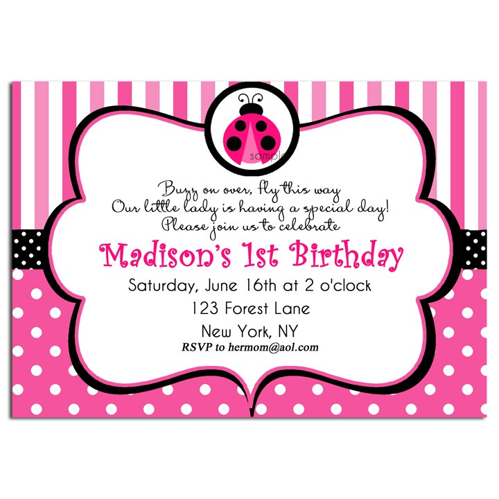 Pink Ladybug Party Invitation by That Party Chick - Pink Ladybug ...