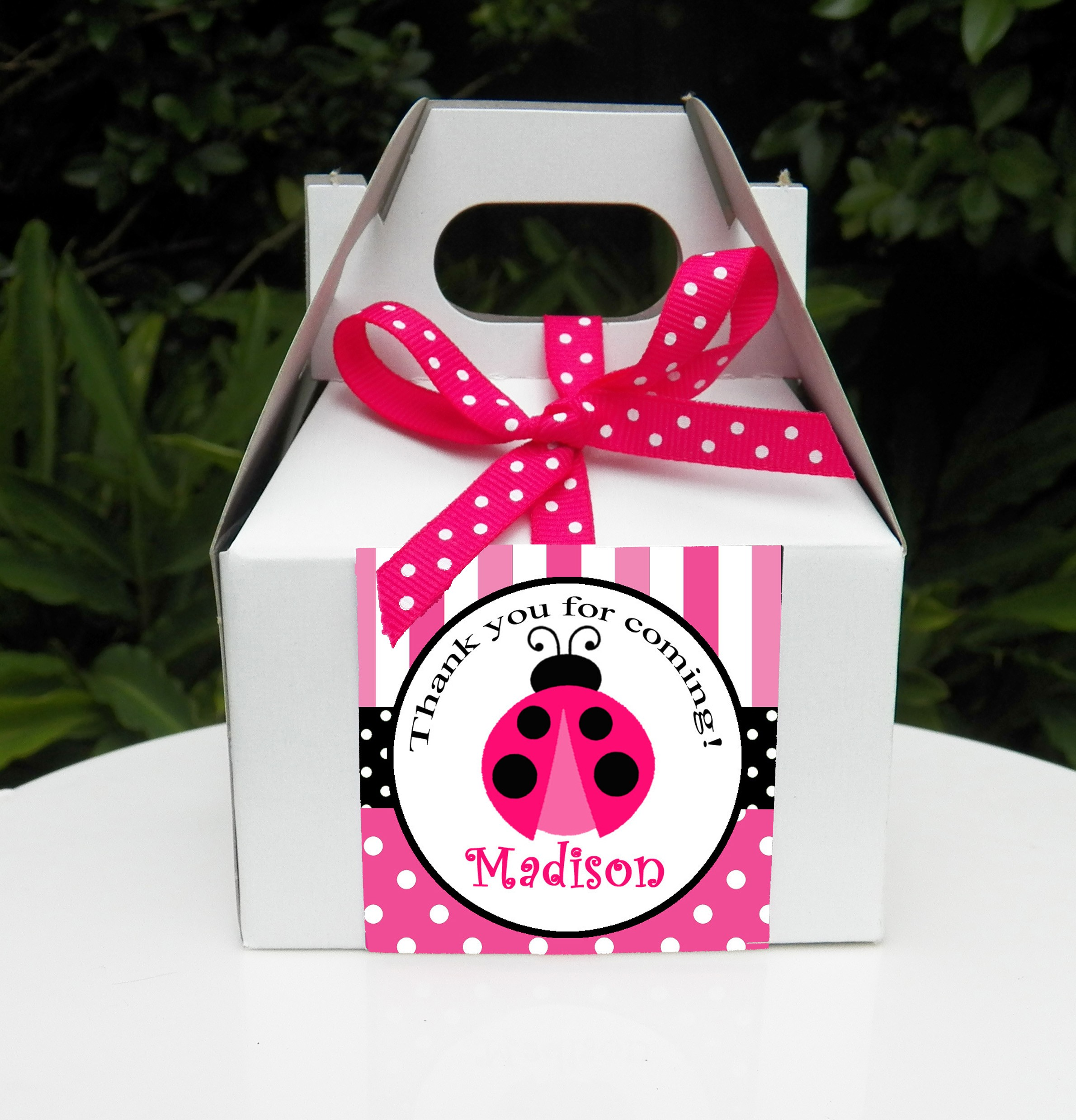 Pink Ladybug Birthday Party Favor Tags by That Praty Chick - Pink ...