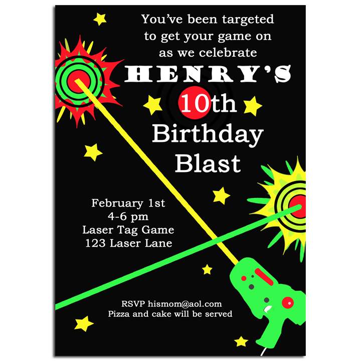 Laser Tag Invitation by That Party Chick