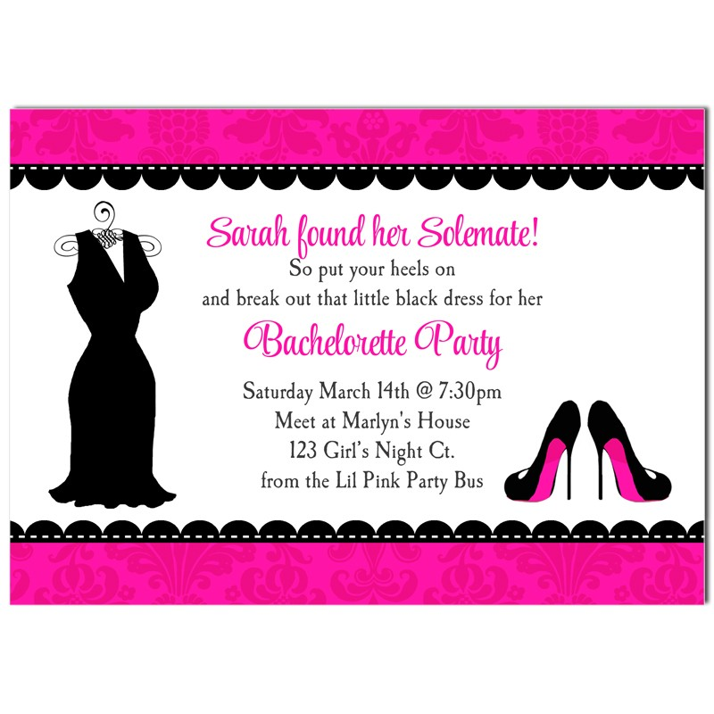 Little Black Dress High Heel Invitation by That Party Chick - The ...