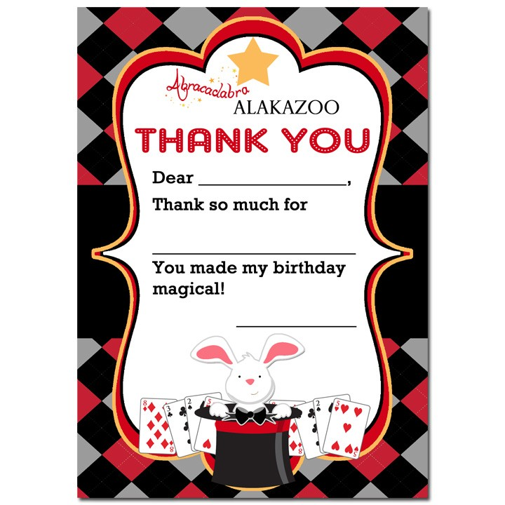 Magician Thank You Notes