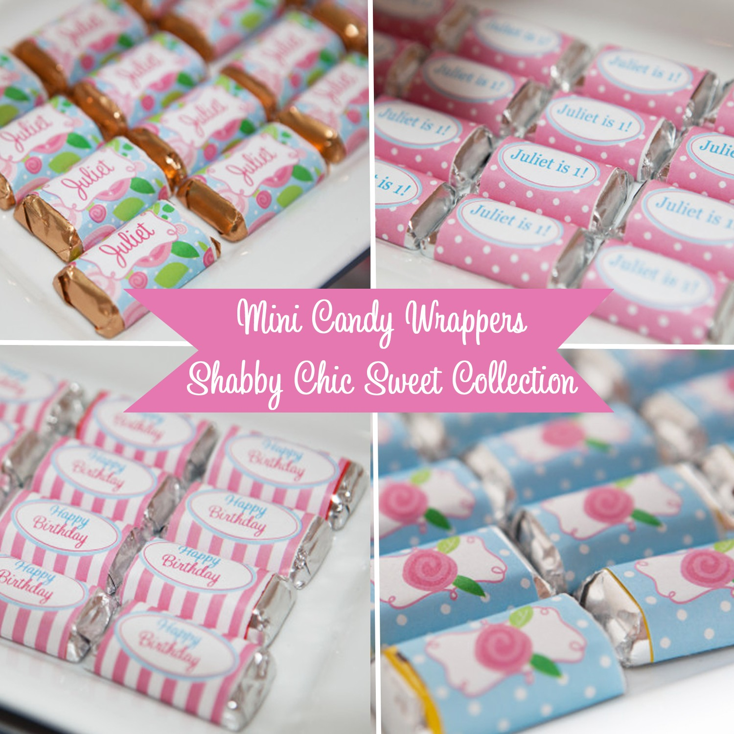 Floral Mini Chocolate Candy Bar Wrappers by That Party Chick ...